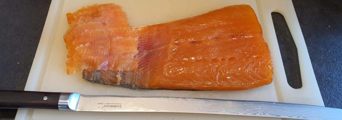 Koldrøget laks lavet i Meatlover Smoke n Dry pose